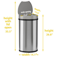 Load image into Gallery viewer, 13 Gallon Stainless Steel Semi-Round Sensor