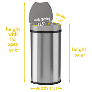 13 Gallon Stainless Steel Semi-Round Sensor
