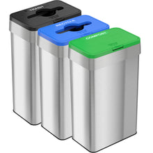 Load image into Gallery viewer, 21 Gallon Stainless Steel Rectangular Open Top (Trash / Recycle / Compost)