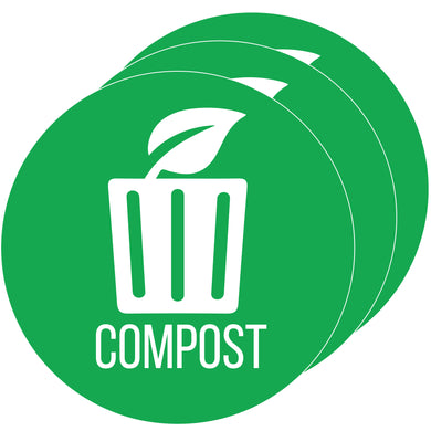 Compost Sticker Set, Size 4x4 (3 pcs)