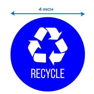 Recycle Can Sticker Set, Size 4x4 (3 pcs)