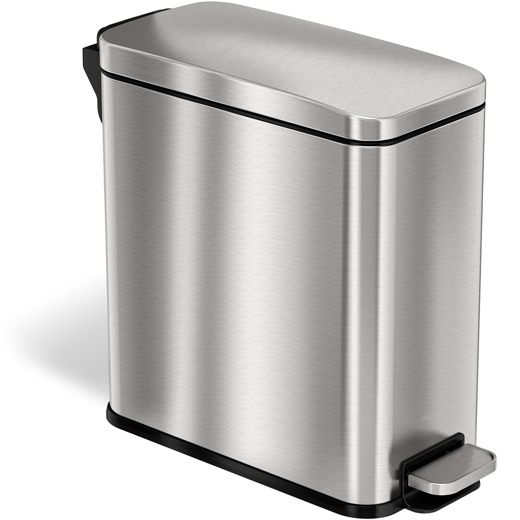 3 Gallon Stainless Steel Soft Step Trash Can with Plastic Liner