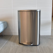 Load image into Gallery viewer, 13 Gallon Stainless Steel Soft Step  with Plastic Liner