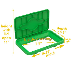 Compost Lid Attachment for 16, 18, 21 Gallon Rectangular Open Top Bin