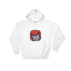 'Shinobu' Large Front Logo Hooded Sweatshirt - Catswag
