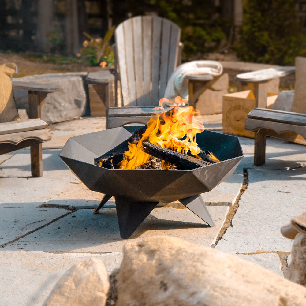 3' Polygon Fire Bowl
