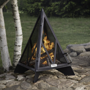 Load image into Gallery viewer, 3' Pyramid Outdoor Fireplace