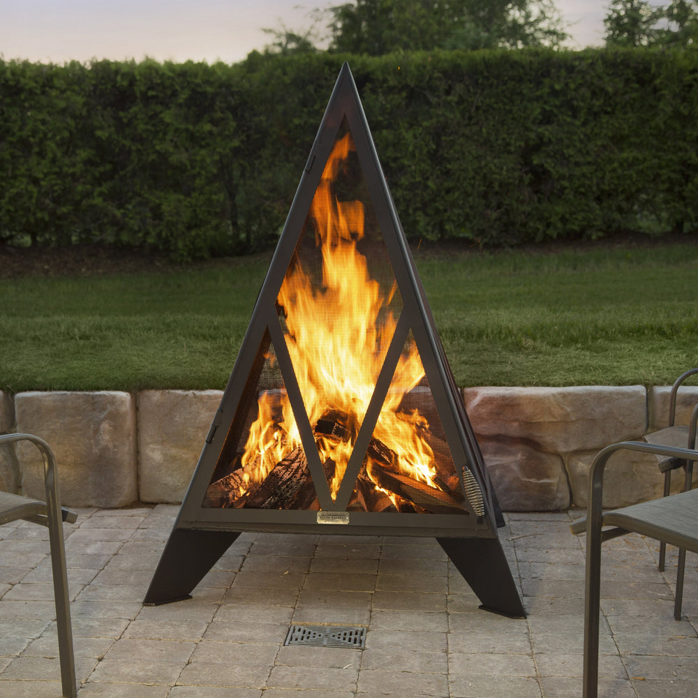 5' Pyramid  Outdoor Fireplace