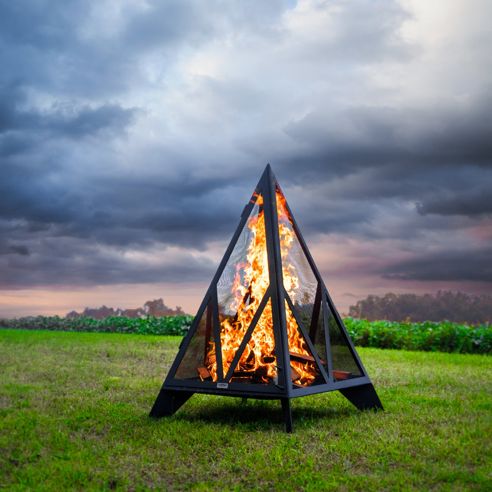 6' Pyramid Outdoor Fireplace