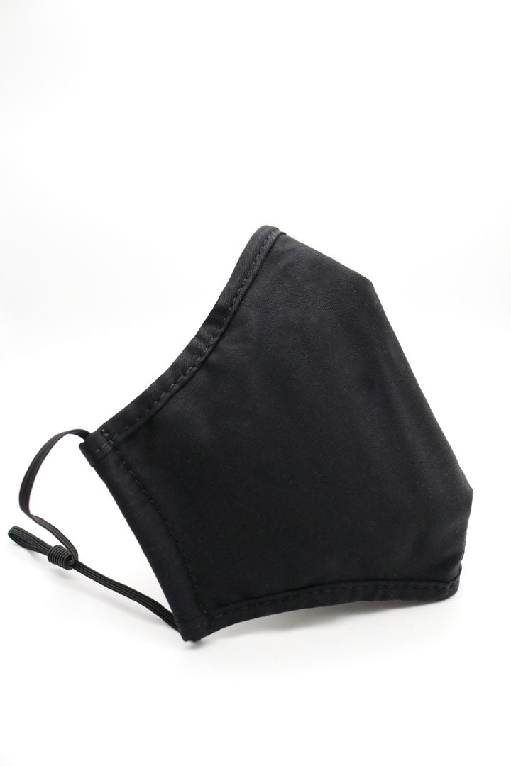 Reusable Bamboo Face Mask in Black Extra Large Size by ADKN