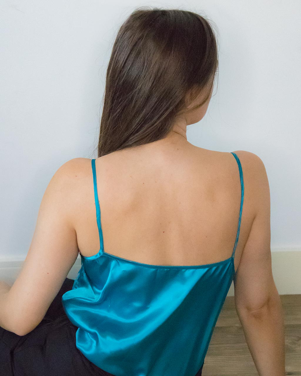 Kami Blue Satin Cami Top