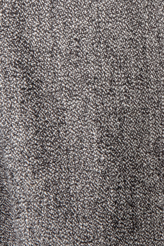 ADKN Baldo Coat sustainable hemp and organic cotton grey tweed fabric