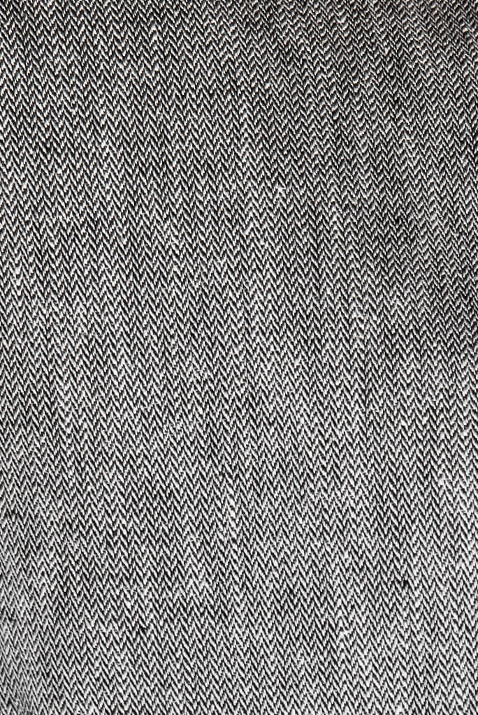 Sustainable tweed houndstooth hemp fabric for Abbe Jacket by ADKN