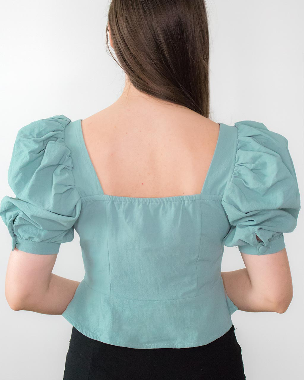 Kiana Green Puff Sleeve Top