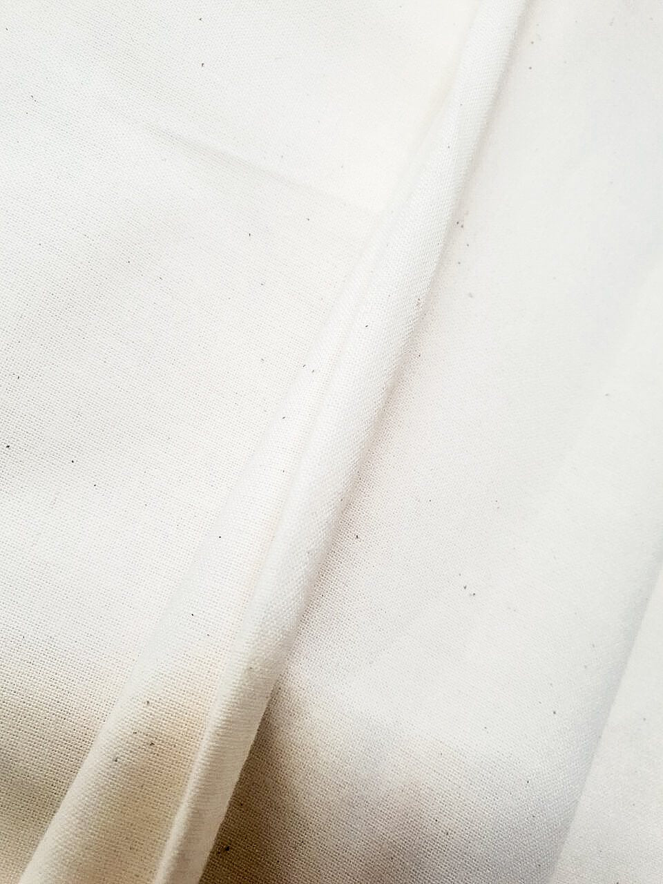 100% recycled cotton medium weight calico fabric 156gsm UK sustainable material ADKN hobbycraft sewing fabric for dressmaking
