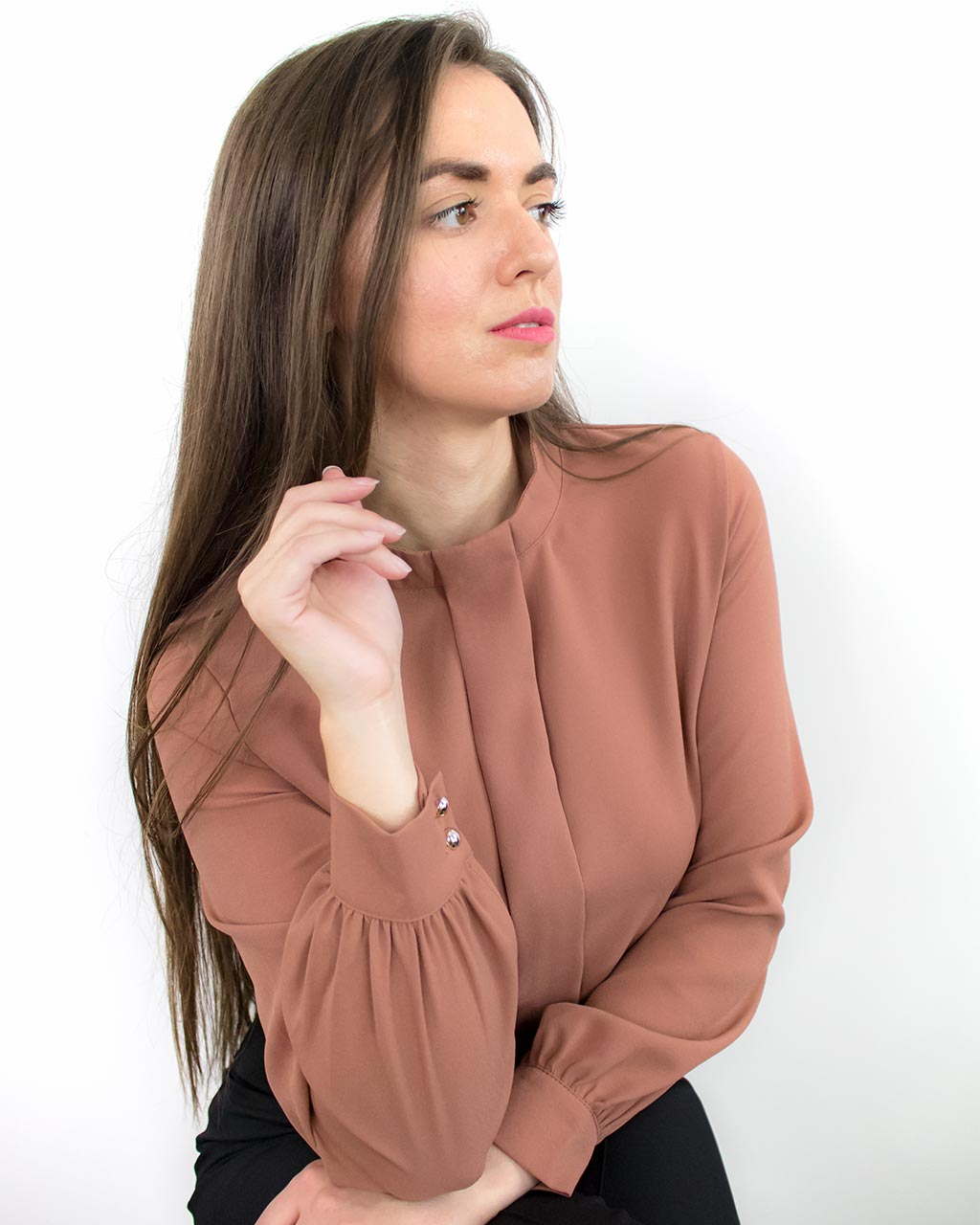 Ada Orange Long Sleeve Top