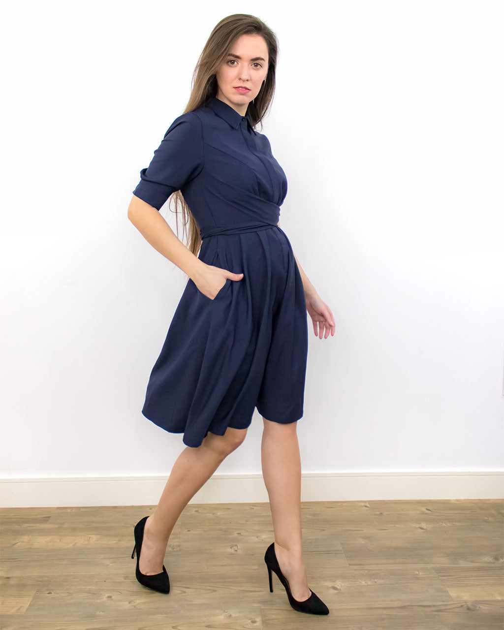 Kate Skater Blue Dress