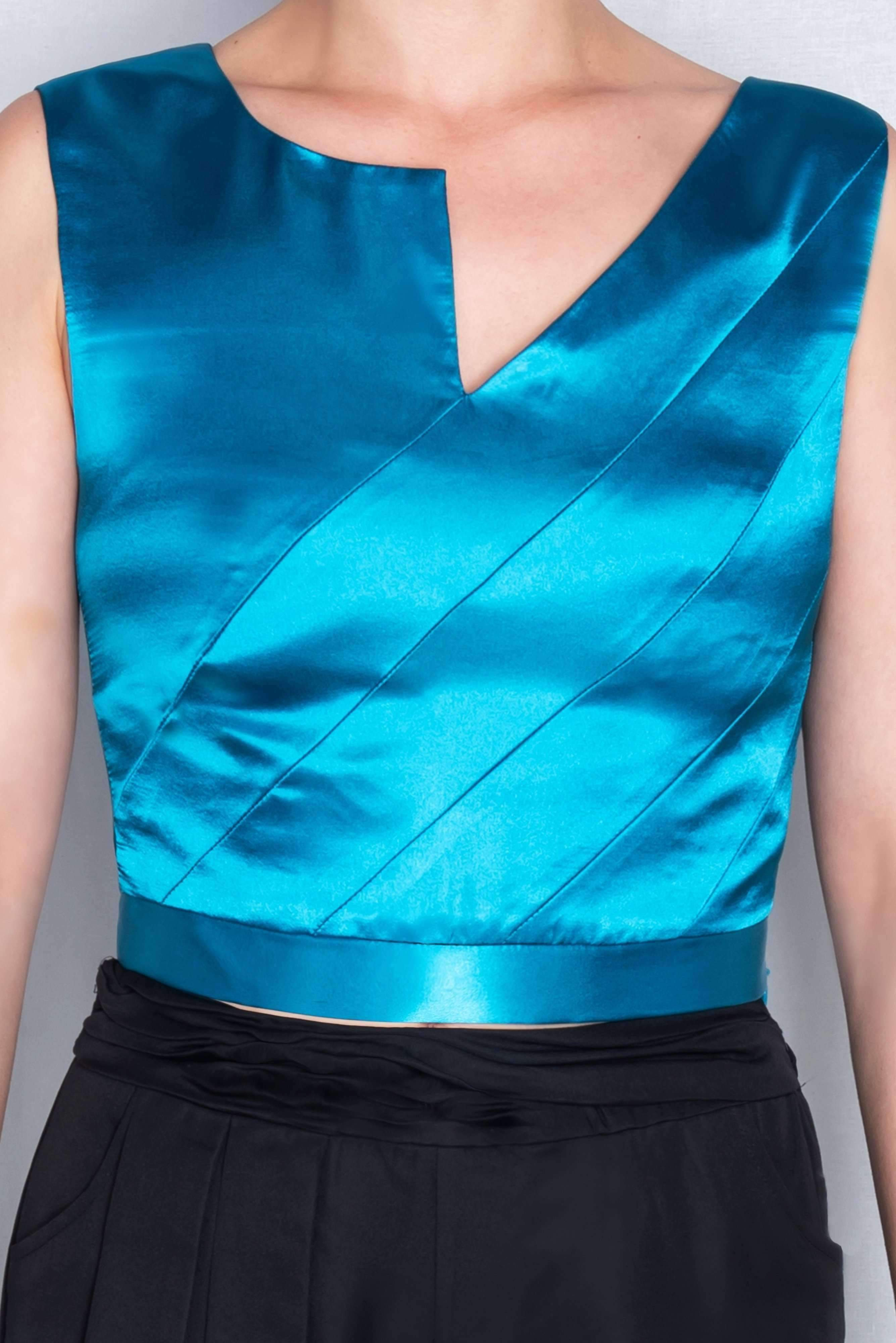 Eirene Crop Top (Blue) ADKN