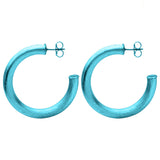 Royal Blue Chantal Hoop Earrings