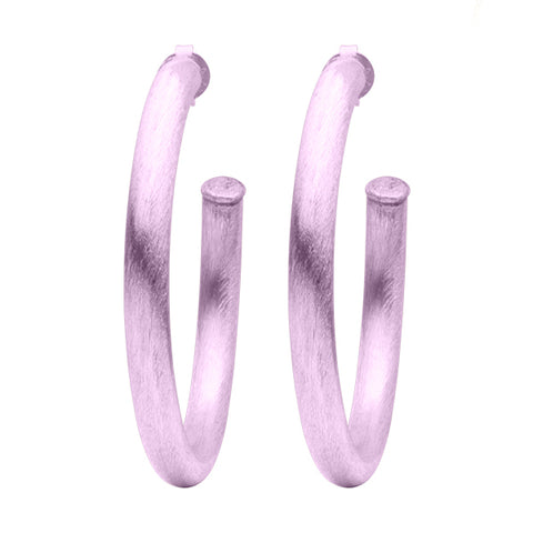 Lavender Arlene Hoop Earrings