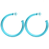 Royal Blue Arlene Hoop Earrings