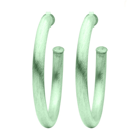 Mint Arlene Hoop Earrings