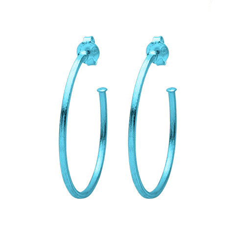 Royal Blue Perfect Hoops