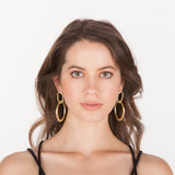 Sage Dangle Hoop Earrings