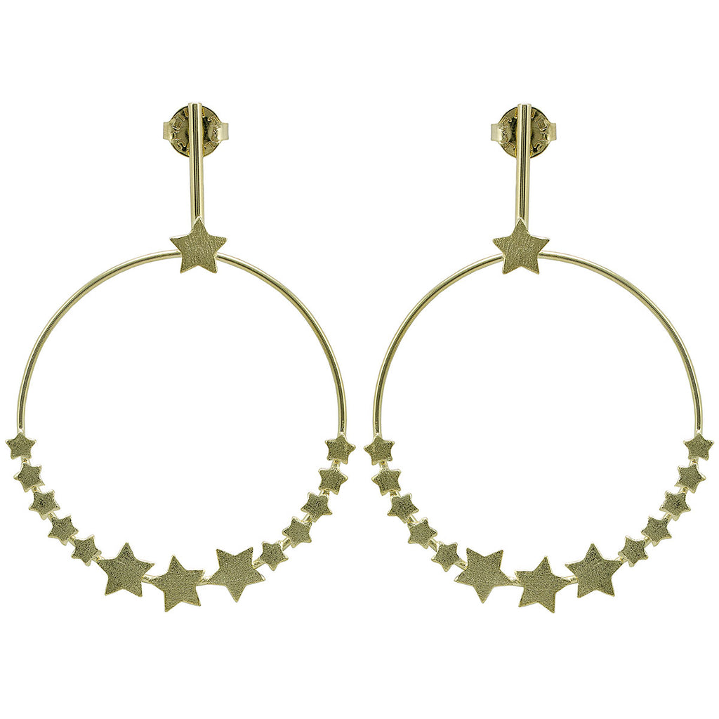 Carrie Star Frontal Hoop Earrings