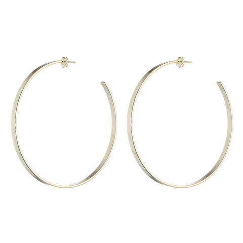 Thin Flat Hoop Earrings