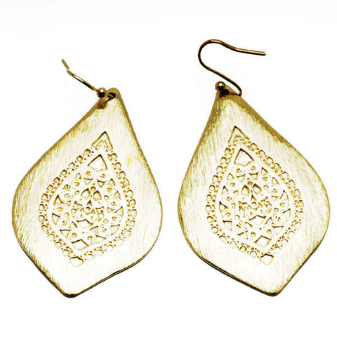 Filigree Solid Teardrop Earrings