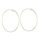 Thin Flat Eternity Hoops