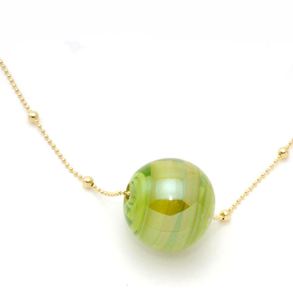 Murano Glass Ball Necklace