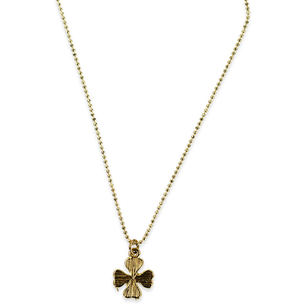 four necklace limnaee luck good charm olizz clover gold leaf
