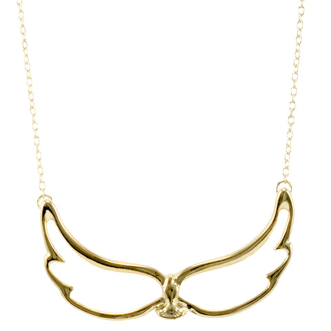 Large Wing Bird Delicate Necklace