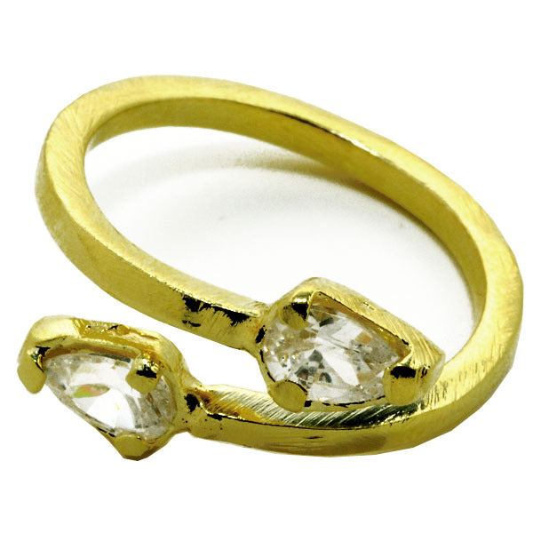 Double CZ Ring