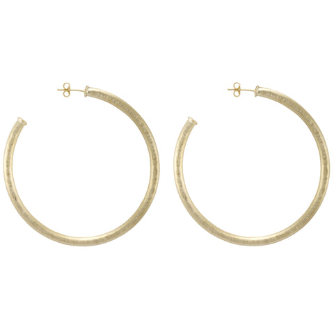 Hammered Everybody's Favorite Hoop Earrings