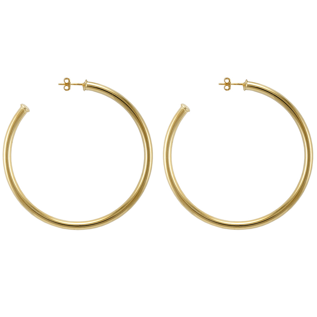 hoop ring jewelry normal metallic lyst in gallery product lane jay golden hammered satin earrings yellow kenneth