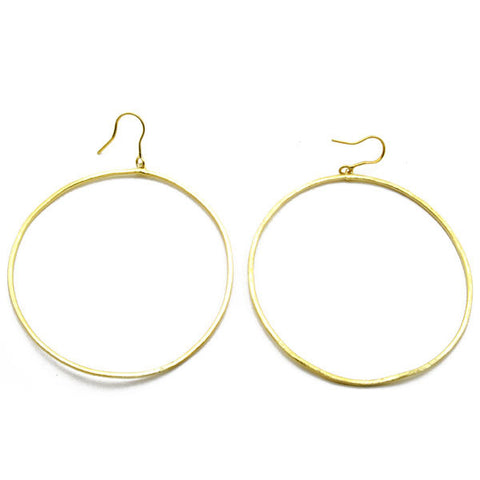 Thin Frontal Hoop Earrings