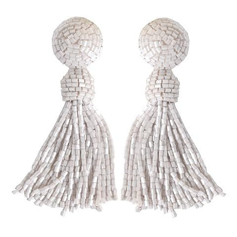 Tess White Earrings
