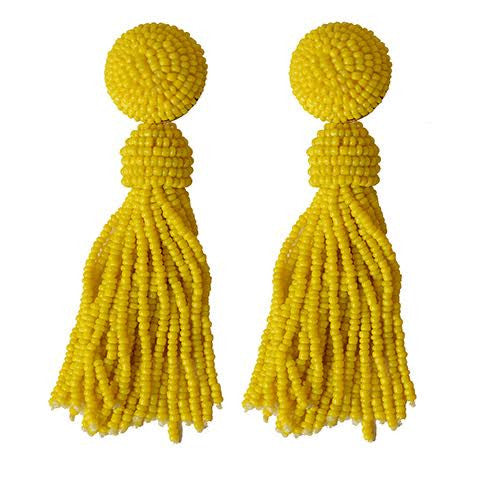 Tess Yellow Earrings