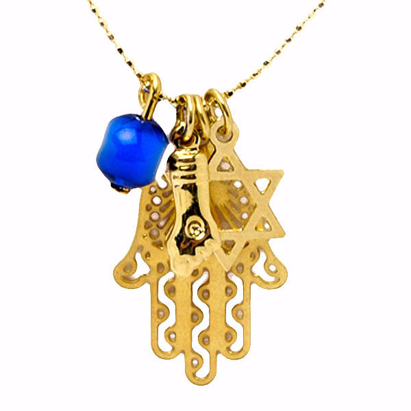 Hamsa Figa Star Eye Delicate Necklace