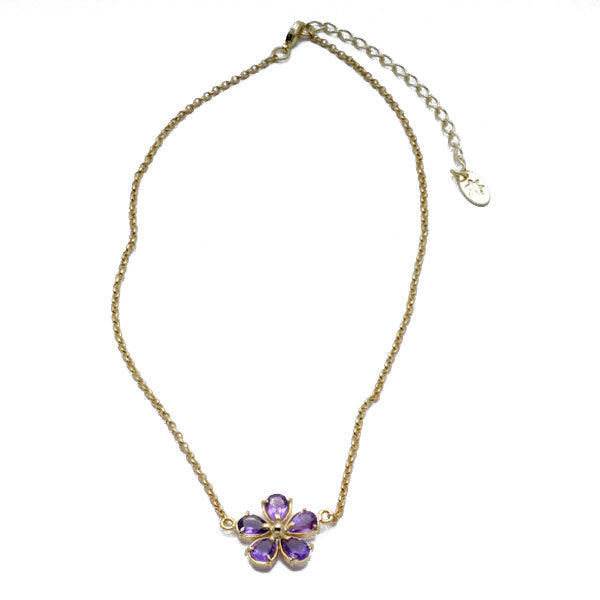 Faceted Flower Necklace