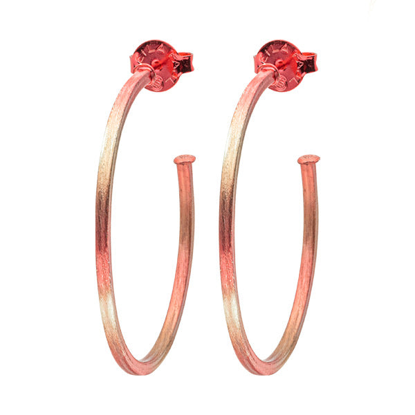 Burnished Red Perfect Hoops