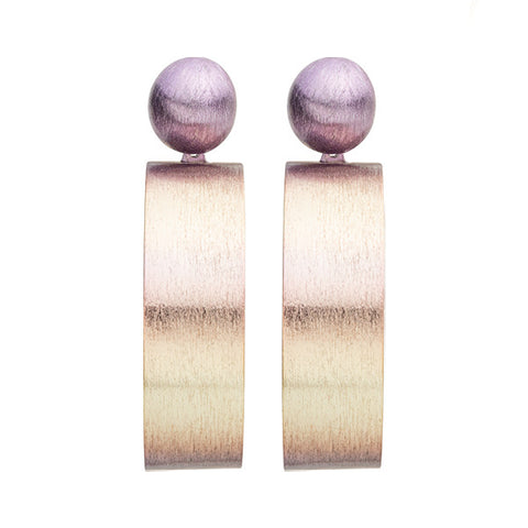 Burnished Lavender Mini Elizzie Earrings