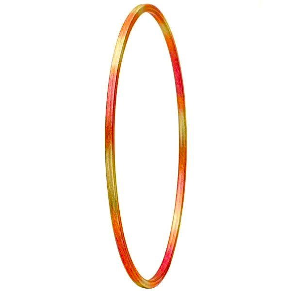 Burnished Red Thin Flat Bangle