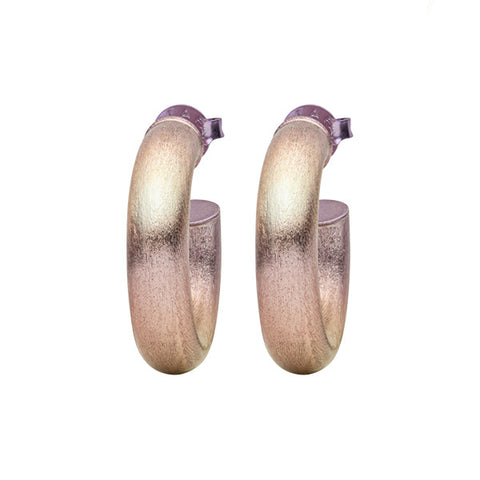 Burnished Lavender Small Chantal Hoops