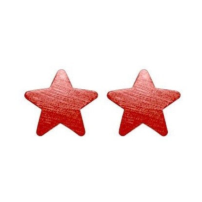 Red Lana Star Studs