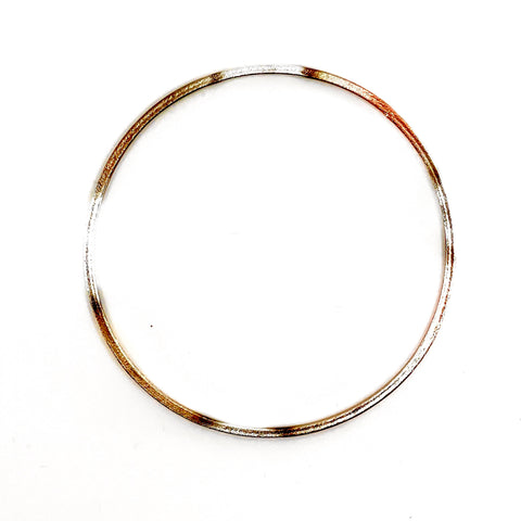 Burnished Chocolate Thin Flat Bangle