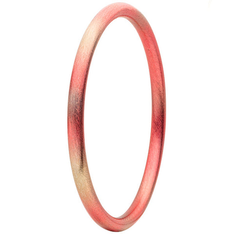 Burnished Red Round Bangle